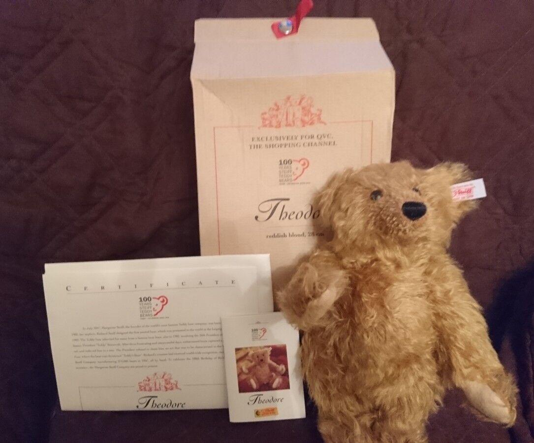 Steiff Theodore 100 Year Bear New With Box