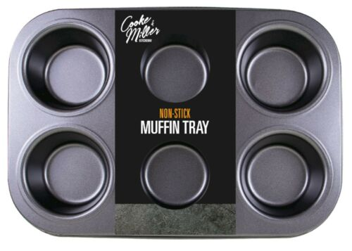 3 x  6 CUP LARGE MUFFIN YORKSHIRE PUDDING MOULD CUPCAKE BAKING TRAY BAKEWARE NEW