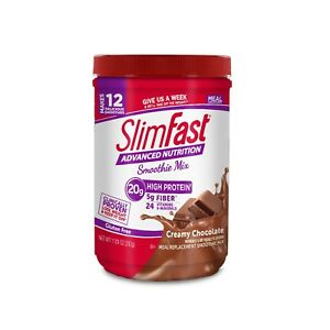 4-Cans-SlimFast-Lose-Weight-Advanced-Smoothie-Chocolate-Meal-Replacement-11-Oz