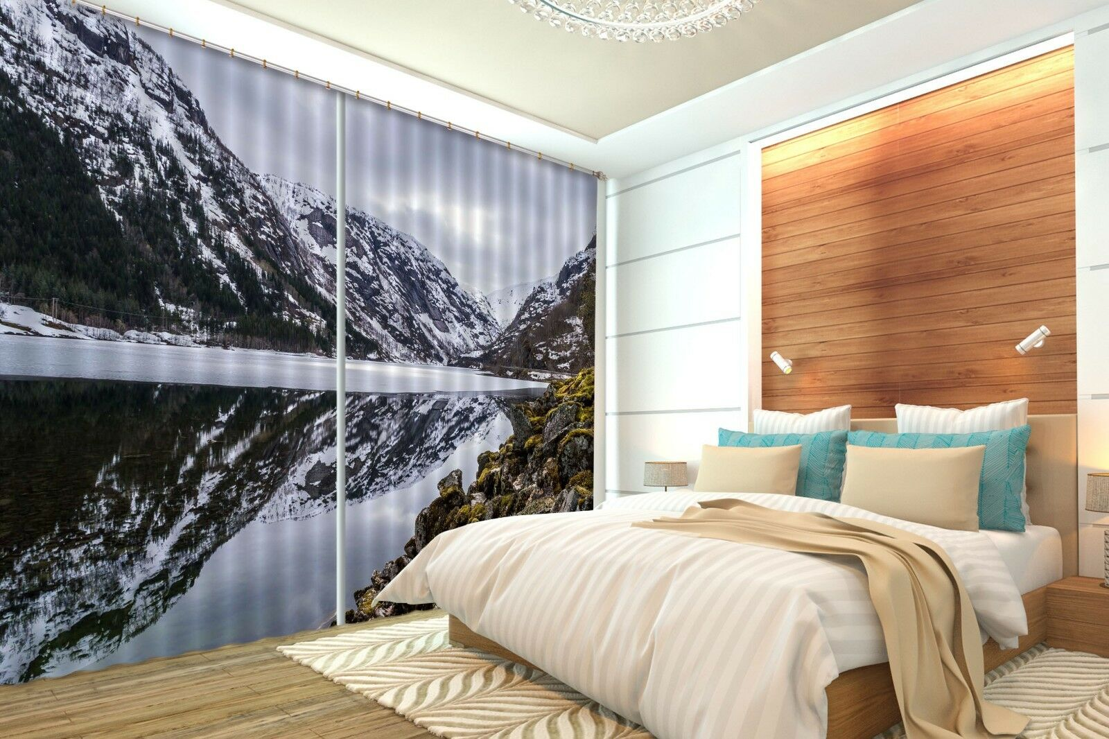 3D HILLS SKY 91 Cortinas de impresión de cortina de foto Blockout Tela Cortinas Ventana CA