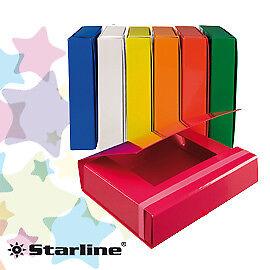 STL5024 CARTELLA PROGETTO DORSO 3CM C/ELASTICO ROSSO STARLINE