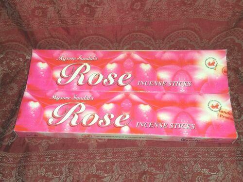 NEW Lot x2 Mysore Sandal Premium ROSE Incense 20 Sticks USA SELLER Free Ship