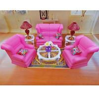 Living Room Sofa Table Lamp Furniture Play Set For Barbie Monster High 1:6