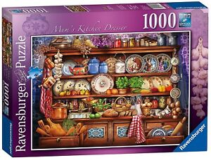 Jigsaw-Puzzle-Ravensburger-MUM-039-S-KITCHEN-DRESSER-1000-Pieces