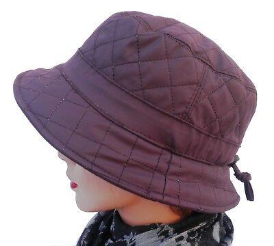 Damen Regenhut gefüttert Wetterhut Farbauswahl Mütze Regenhüte Kofferhut Reise