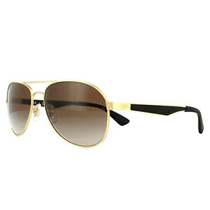 76299be857 Ray-Ban Sunglasses 3549 112 13 Gold Black Brown Gradient ...