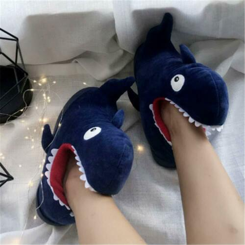 Aimeely Women Cute Whale Plush Slippers Winter Warm Home Animals Slipper