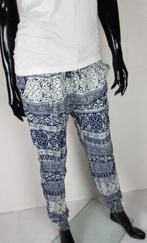 38-42 Donna Pantaloni Harem cavallo basso pantaloni pluderhose Pump Pantaloni Estate Pantaloni Tg