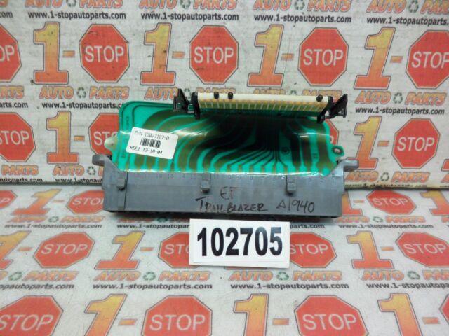 02-09 chevrolet trailblazer fuse box bcm bcu wire harness extension  15077187 oem