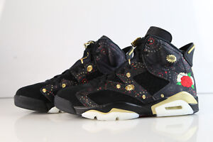 9bc201579427 Air Jordan Retro 6 PRM CNY Chinese New Year Black Gold AA2492 ...