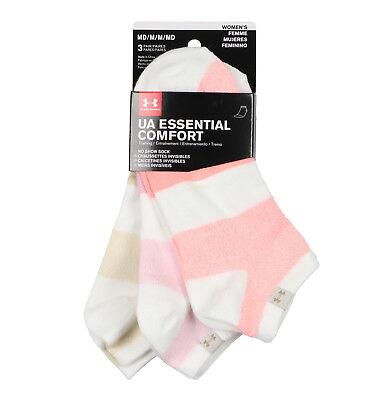 NWT Under Armour Essential Comfort Womens/' No Show Socks 3 PR Medium 7-10.5