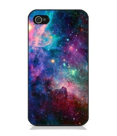 Galaxy Space Snap On Hard Plastic Case Cover Protector For Apple iPhone 4/4S