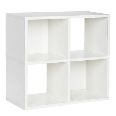 Way Basics Eco Friendly Modular Storage Quad Cube Bookcase Storage Shelf White 739485121565 Ebay