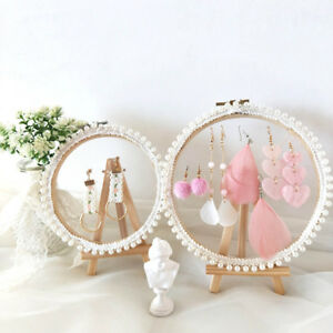 Romantic-Girl-Lace-Desktop-Earring-Storage-Jewelry-Photo-Packaging-Display-Stand