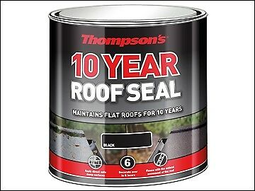 Ronseal Thompson's Roof Seal Black 4 Litre RSLHPRSBL4L