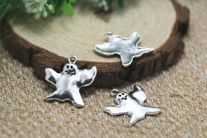 15pcs-halloween-GHOST-Charms-Antico-Tibetan-Silver-Ghost-Ciondoli-24x23mm