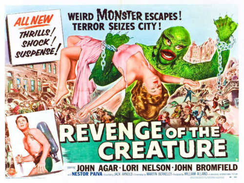 1955 REVENGE OF THE CREATURE VINTAGE HORROR MOVIE POSTER PRINT STYLE C 36x48 BIG