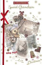 GRANDSON CHRISTMAS EXTRA LARGE CARD WITH LOVELY VERSES