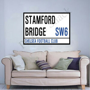 CHELSEA F.C STREET SIGN ON AN 18 x 24 INCH CANVAS.READY TO HANG.STAMFORD BRIDGE