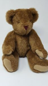 THE-VERMONT-TEDDY-BEAR-CO-Vintage-1992-brown-Bear-Jointed-17-034-plush