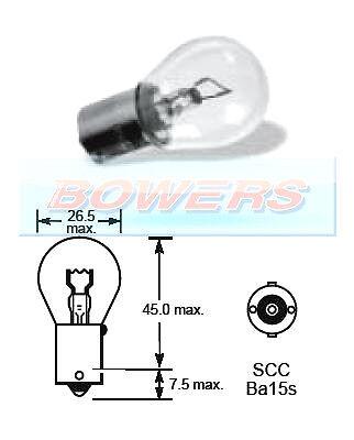 Lucas LLB382 12V Volt P21W ba15s csc 21 w contact unique ampoule baïonnette fit