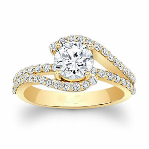 1-61-Ct-Solitaire-Real-Moissanite-Wedding-Engagement-Ring-Solid-14K-Yellow-Gold