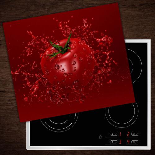 60x52 cm Herd-Abdeckplatte Glas Ceranfeld-Abdeckung Deko Tomate Saft