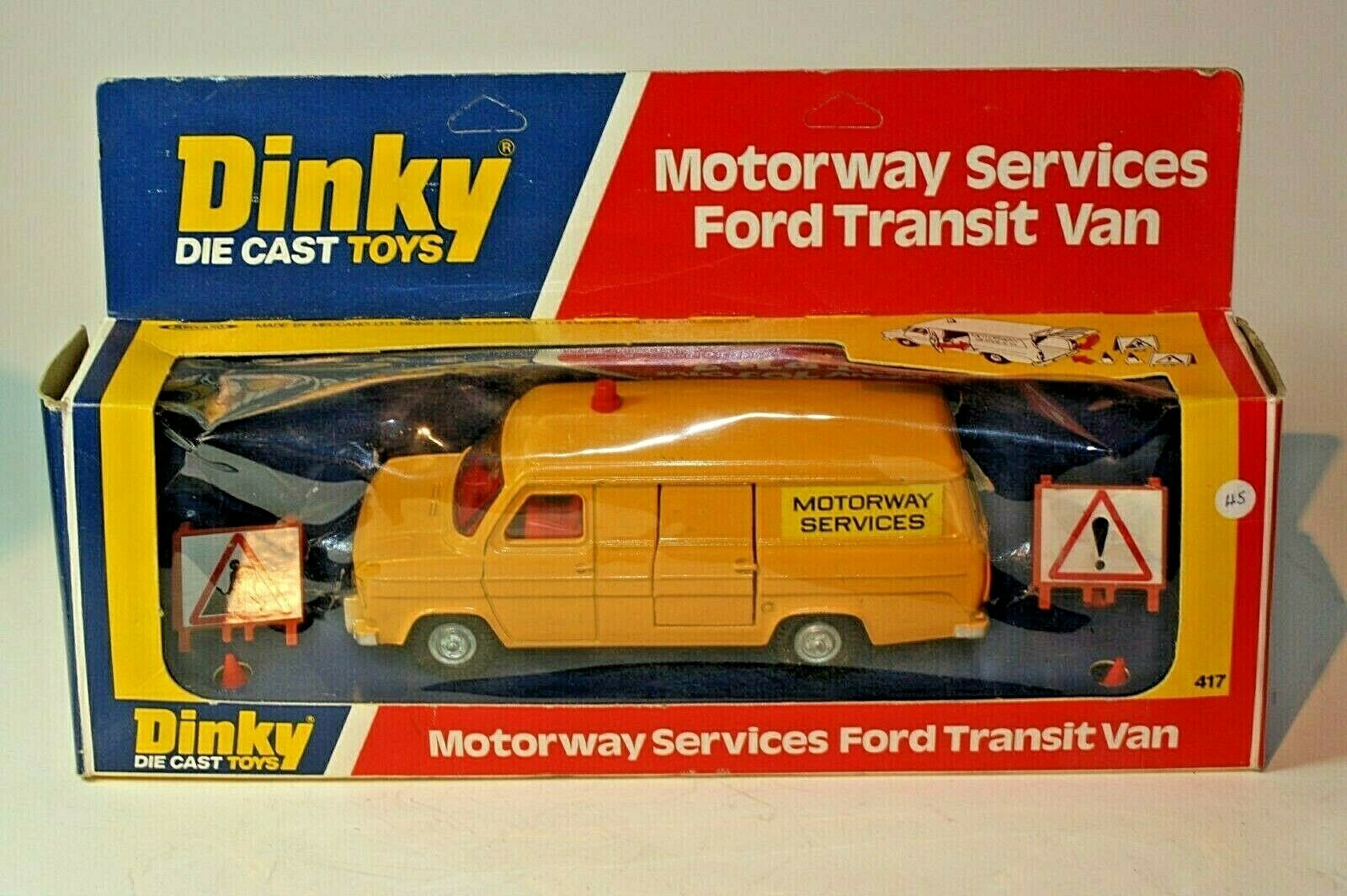 supporto al dettaglio all'ingrosso DINKY 417 Ford Transit Transit Transit Van AUTOSTRADA servizi ottime condizioni nella scatola originale buona  offrendo il 100%