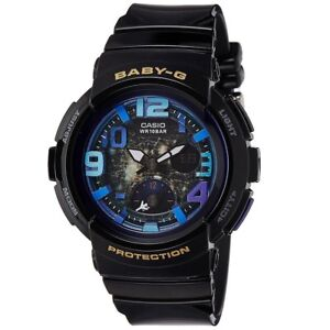 Casio-Baby-G-BGA-190GL-1B-Black-Beach-Series-Women-039-s-Digital-Analog-Watch