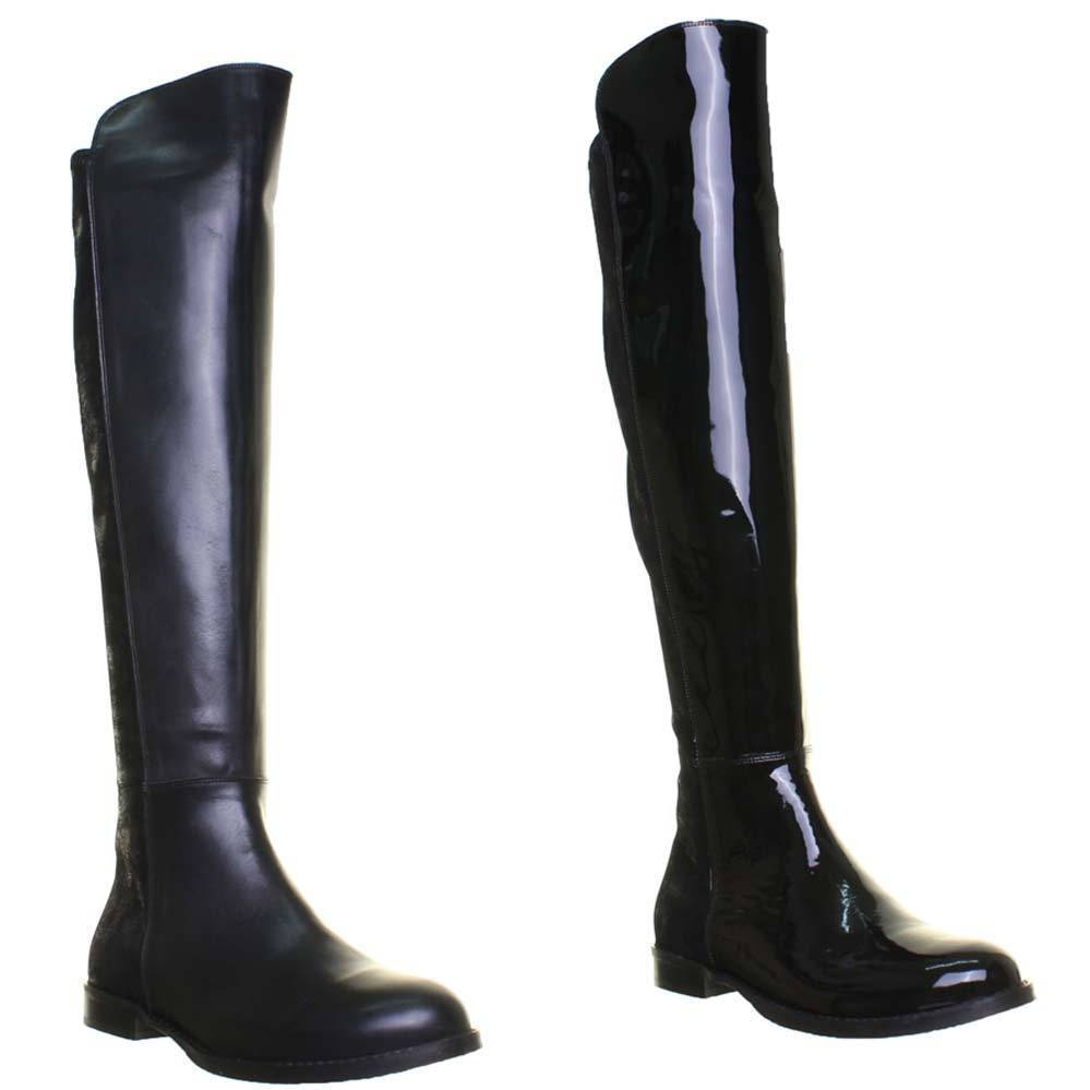 Justin Reece Womens High 100% Leather Stretch Boot Size