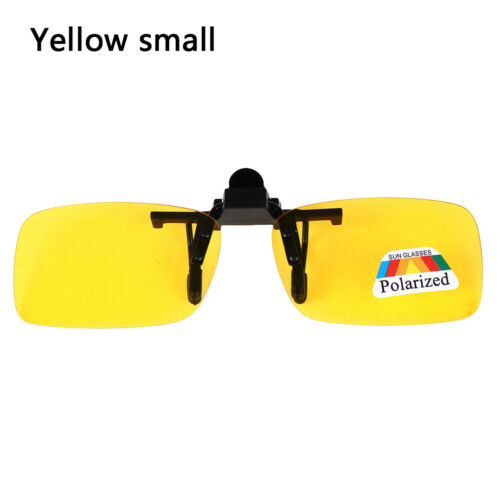 Clip-on Polarized Day Night Vision Flip-up Lens Driving Glasses Sunglasses OF