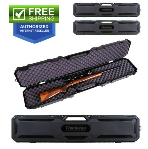 Rifle Shotgun Hard Carry Case Gun Storage Box Padded Tactical Hunting 2 PACK
