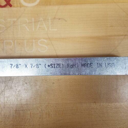 """3ft NEW 122414 7//8/"""" x 7//8/"""" PK1 Square Key Stock w// Zinc Finish Long"""