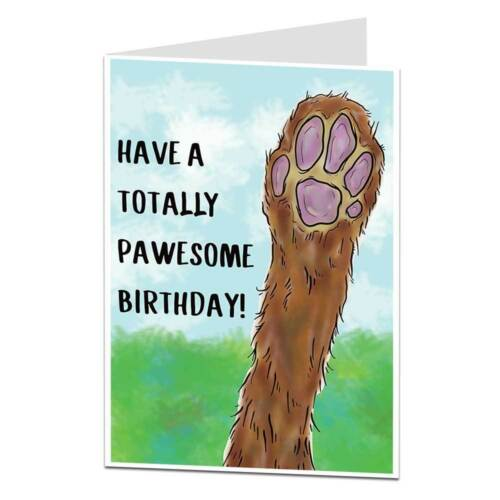 Birthday Card From The Dog Pet Theme Totally Pawesome Birthday