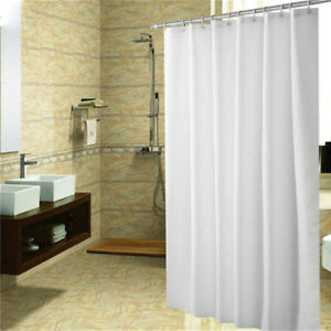 Image Is Loading Wide Fabric Shower Curtain Heavy Duty Water Repellent
