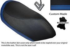 ROYAL BLUE & BLACK CUSTOM FITS PEUGEOT JETFORCE 50 125 FRONT LEATHER SEAT COVER
