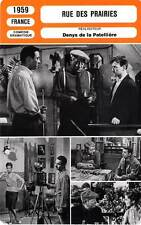 FICHE CINEMA : RUE DES PRAIRIES - Gabin,Nat,Brasseur,Patellière1959 Rue de Paris