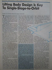 10/1990 ARTICLE 8 PAGES ROCKWELL NASP X-30 NATIONAL AERO SPACE PLANE