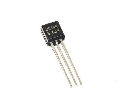 10 transistors BC546B NPN TO92 100mA 65V Fairchild