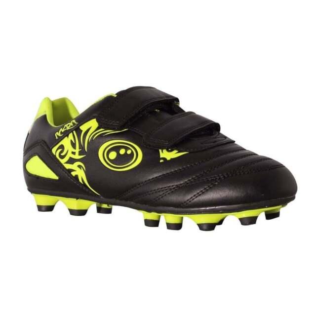 6fe004f544cf Optimum Razor Velcro MOULDED Kids Football Boot Black/yellow UK 1   eBay