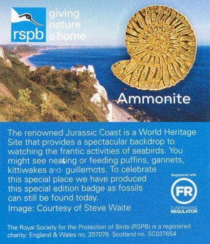 01418 RSPB Pin BadgeAmmoniteJurassic Coast
