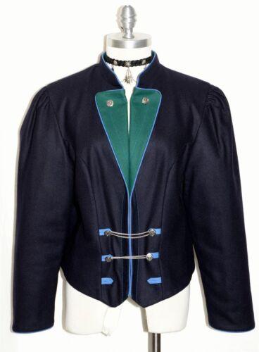 Dark da con lana B40 Trachten blu guida Wool M M Trachten Jacket donna Women 10 Dirndl Dirndl 10 Blue Riding bavarese Bavarian scura tedesca Giacca di B40 German InpgZ