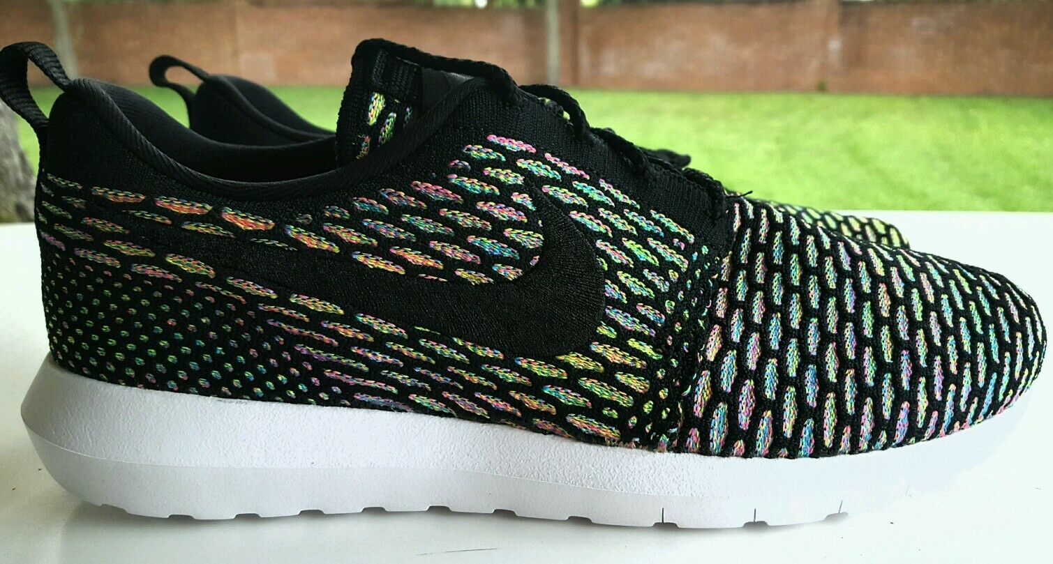 sports shoes 043aa d542d durable service NIKE ROSHE RUN NM FLYKNIT MULTICOLOR SIZE 10.5 677243-013