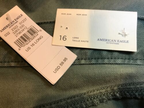 634126 Mom American Nwt High Eagle Green Long Sz Jean Rise Ripped 16 EPEqdFw