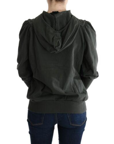con S Zipper S Sweater Top da It40 Us cotone donna in Full Nuovo Grigio 8033835734361 Exte cappuccio 300 azfBqBRS