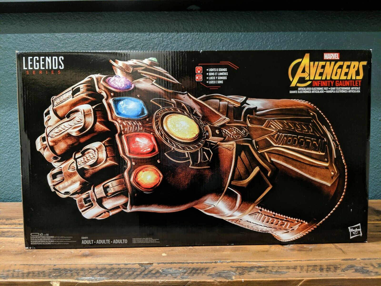 Marvel Avengers Thanos INFINITY GAUNTLET Articulated  Electronics Fist Legends  fino al 65% di sconto