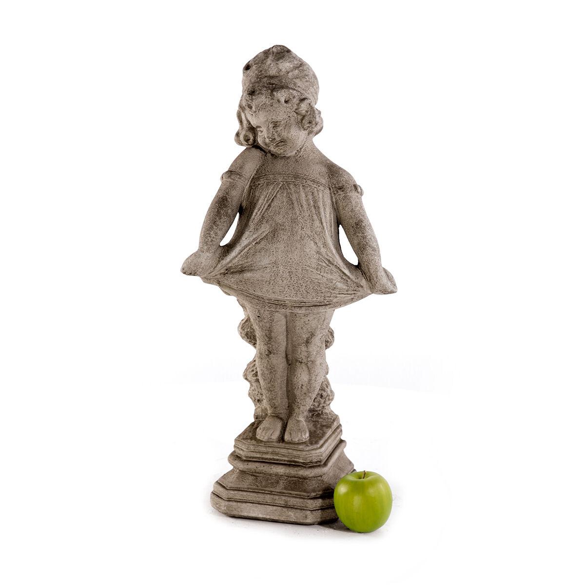 Jardin Personnage Pierre personnage Dekofigur 60 cm 14,5 kg fille Steinguss statue sculpture