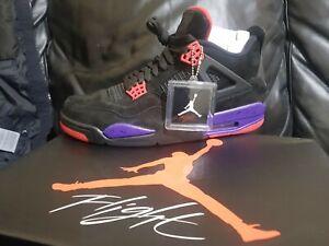 NIKE AIR JORDAN 4 RETRO NRG RAPTORS Black/Court Purple Size:10UK- RARE DEADSTOCK