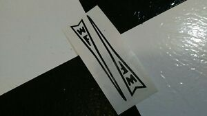 2-Black-WF-Western-Flyer-Buzz-Bike-Muscle-Bike-Bicycle-FORK-DART-DECAL-STICKER