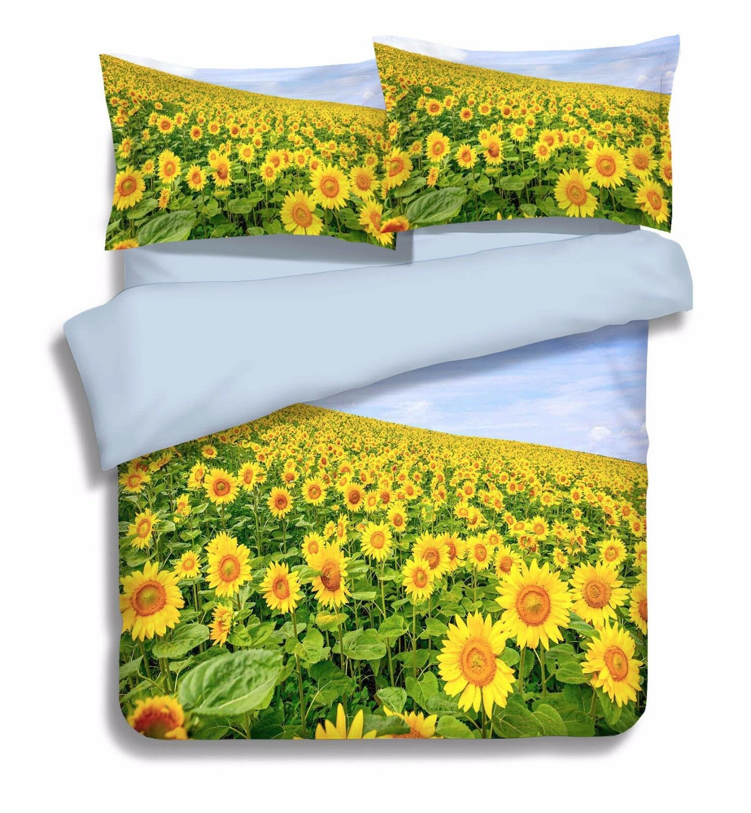 3D Sunflowers 886 Bed Pillowcases Quilt Duvet Cover Set Single Queen UK Carly